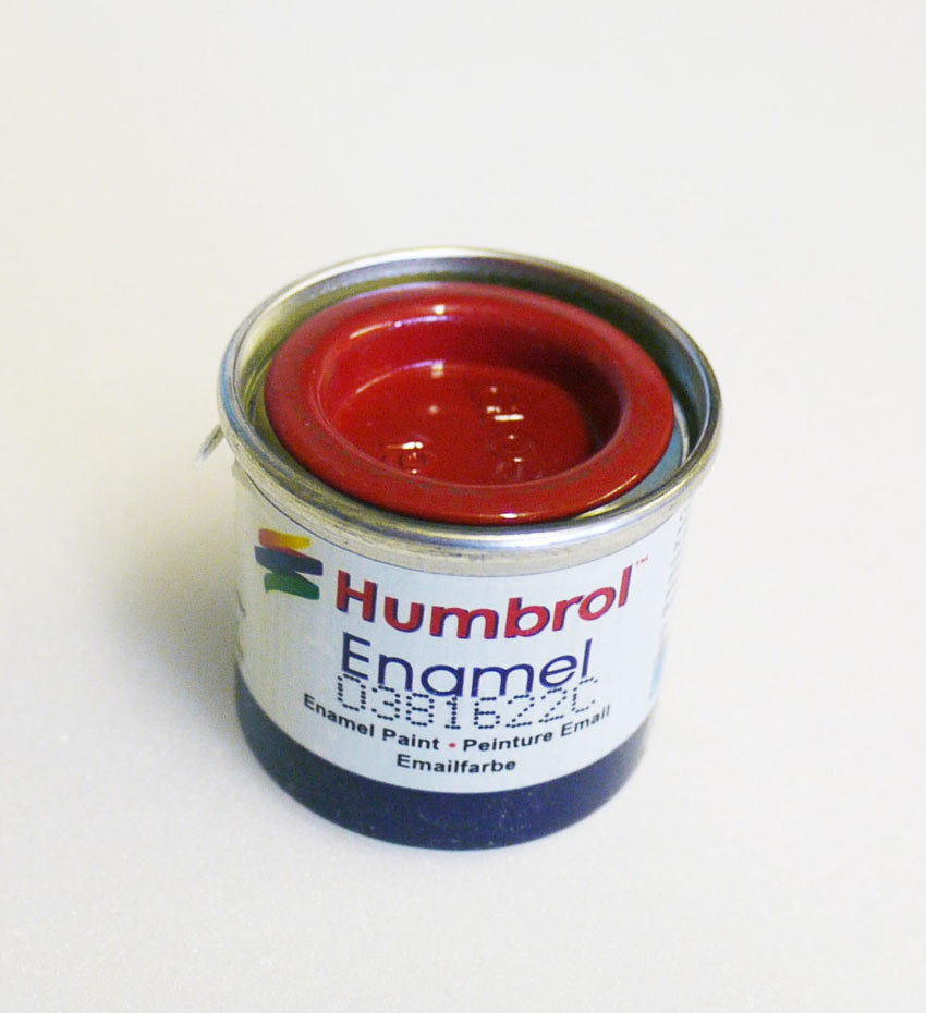 Red Enamel Paint